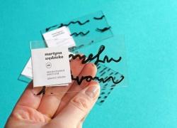 Идея фирменного стиля: печать на прозрачном пластике