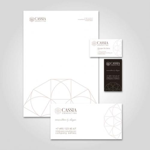 Логотип и фирменный стиль компании CASSIA Consulting, Дубаи
