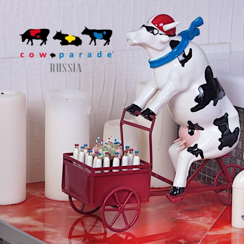 Сайт и реклама для Cow Parade Russia